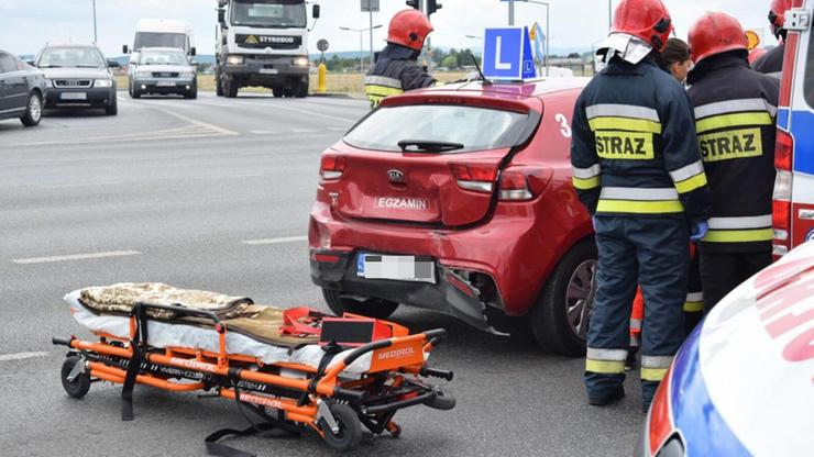 Samochód WORD po wypadku