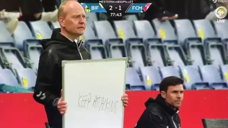 Wskazówki trenera Broendby hitem internetu! Zdjęcie tablicy obiegło świat
