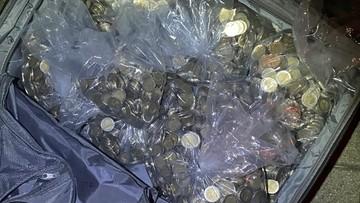 Chciał przewieźć do Niemiec ok. 24 tys. monet