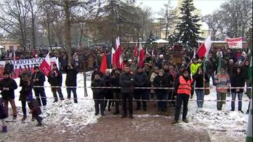 Mieszkańcy Góry Kalwarii protestują przeciwko przyjęciu uchodźców