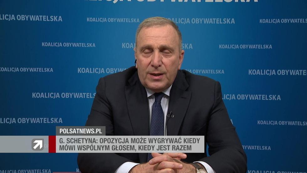 Gość Wydarzeń - Grzegorz Schetyna