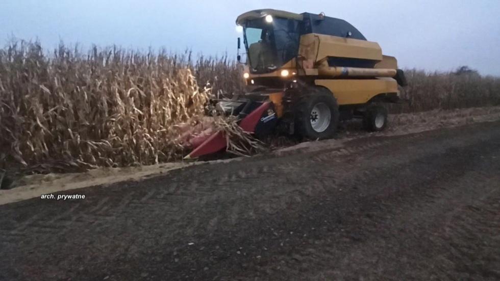 Interwencja - Rolnicy protestują przeciwko przebudowie drogi